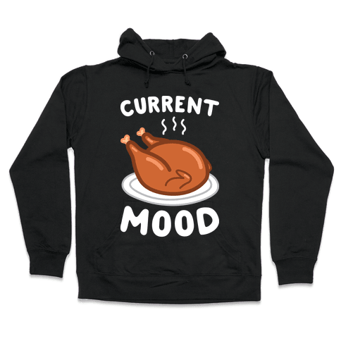 Current Mood Turkey (White) Hooded Sweatshirt