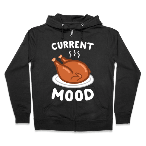 Current Mood Turkey (White) Zip Hoodie