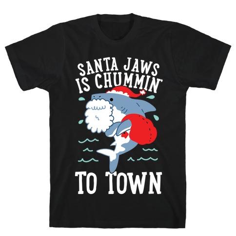 Santa Jaws Is Chummin' To Town T-Shirt