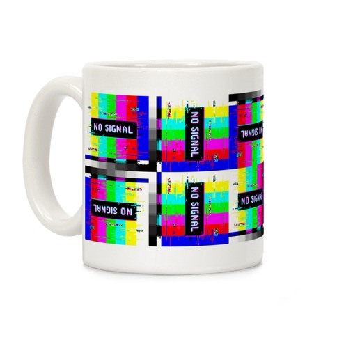 Glitchy No Signal Bars Coffee Mug
