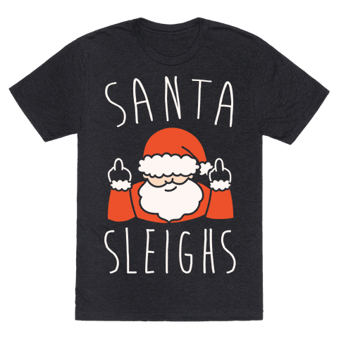 Santa Sleighs Parody White Print