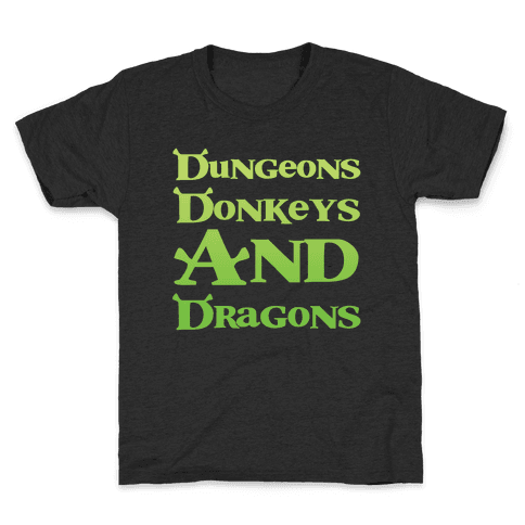 Dungeons, Donkeys and Dragons Kids T-Shirt