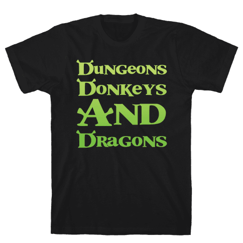 Dungeons, Donkeys and Dragons Mens/Unisex T-Shirt