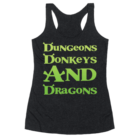 Dungeons, Donkeys and Dragons Racerback Tank Top
