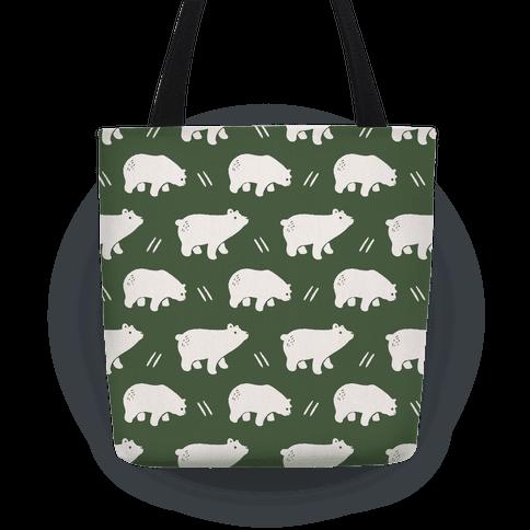Bear Chive Boho Pattern Tote