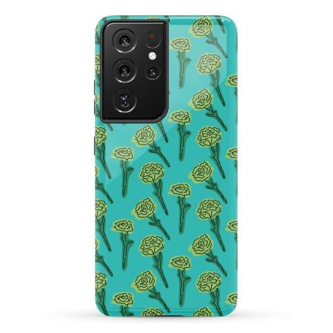 Green Carnation Pattern Phone Case
