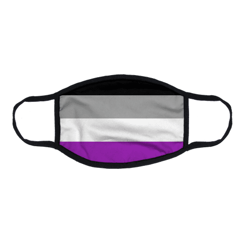 Asexual Pride Flag Flat Face Mask