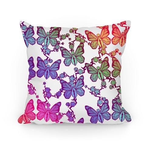 Butterfly Vagina Pattern Pillow