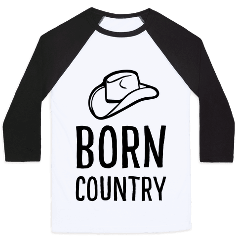 Born Country Baseball Tee
