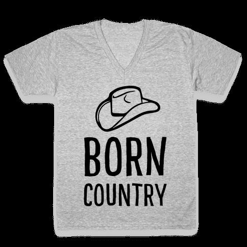 Born Country V-Neck Tee Shirt