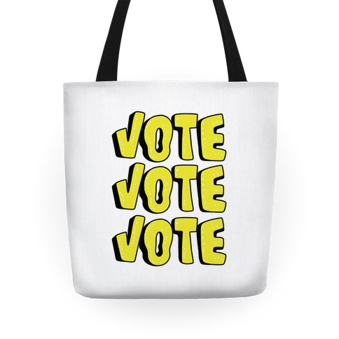 Vote Vote Vote! (Yellow) Tote