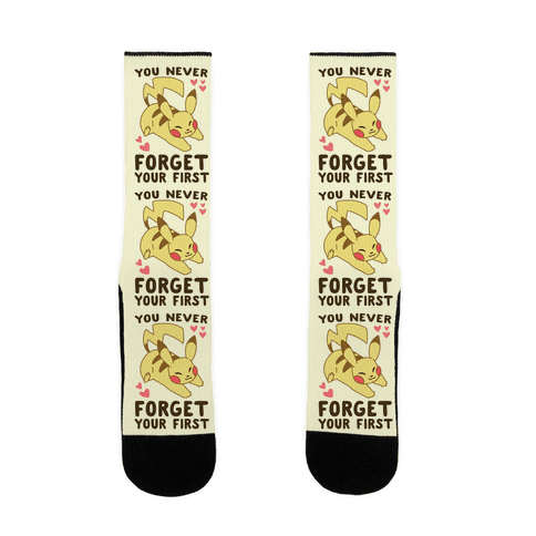 You Never Forget Your First- Pikachu Sock
