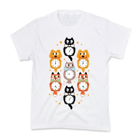 Animal Clock Pattern Kids T-Shirt