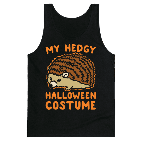 My Hedgy Halloween Costume Hedgehog White Print Tank Top