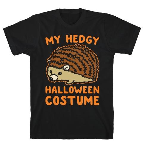 My Hedgy Halloween Costume Hedgehog White Print T-Shirt