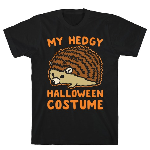 My Hedgy Halloween Costume Hedgehog White Print Mens T-Shirt