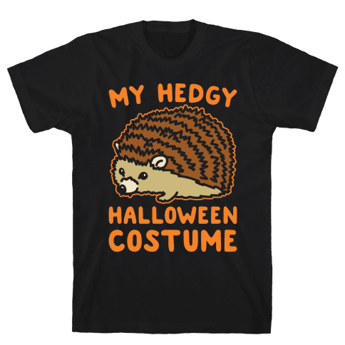 My Hedgy Halloween Costume Hedgehog White Print