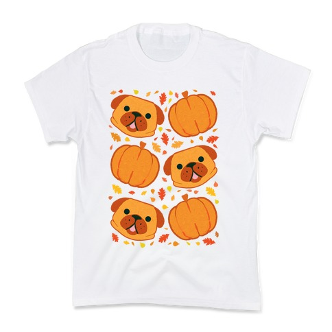 Pug Pumpkin Pattern Kids T-Shirt