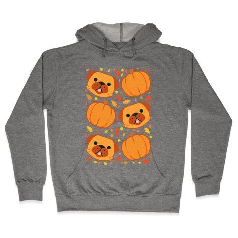 Pug Pumpkin Pattern Hooded Sweatshirt