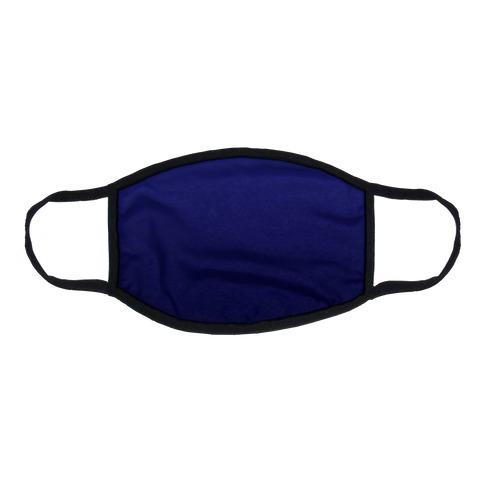 Navy Gradient Flat Face Mask