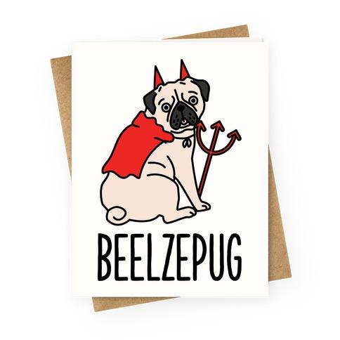 Beelzepug Greeting Card