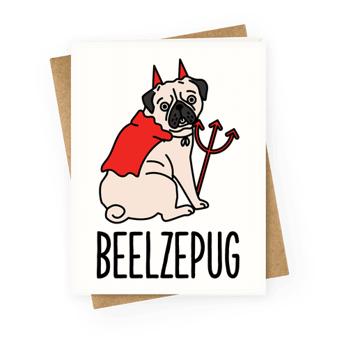 Beelzepug Greeting Card
