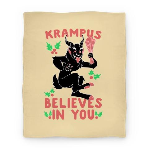 Krampus Believes in You Blanket