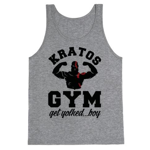 Kratos Gym Get Yolked Boy Tank Top