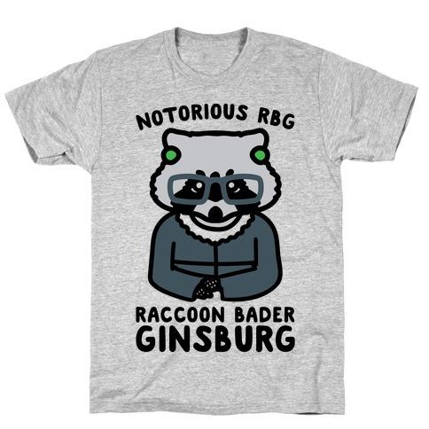 Notorious RBG Raccoon Bader Ginsburg Parody T-Shirt