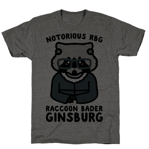 Notorious RBG Raccoon Bader Ginsburg Parody Mens T-Shirt