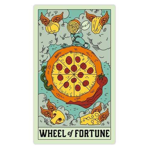 Wheel Of Fortune Pizza Die Cut Sticker