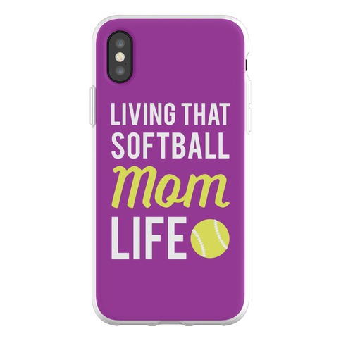 Living That Softball Mom Life Phone Flexi-Case