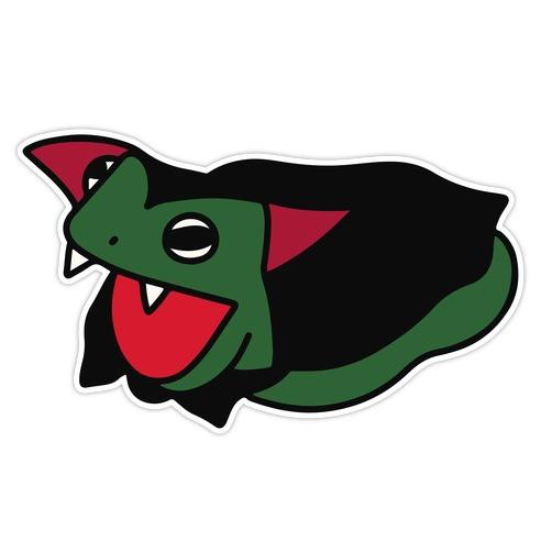 Fangy Frog Pattern Die Cut Sticker