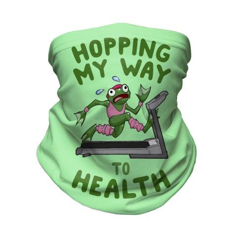 Hopping My Way To Health Neck Gaiter