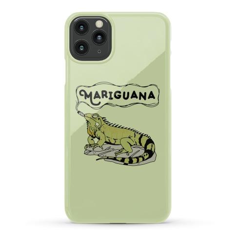Mariguana Marijuana Iguana Phone Case