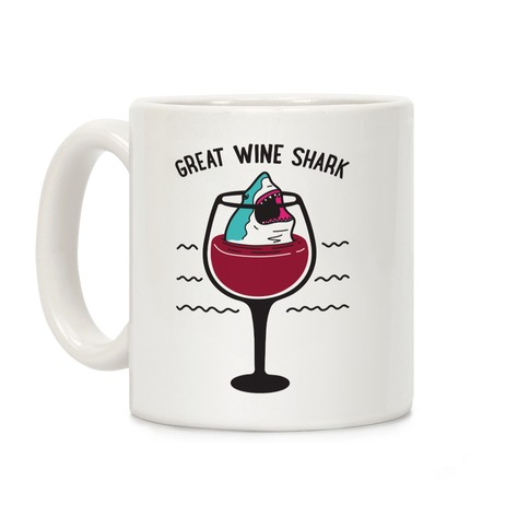 Great Wine Shark Coffee Mug