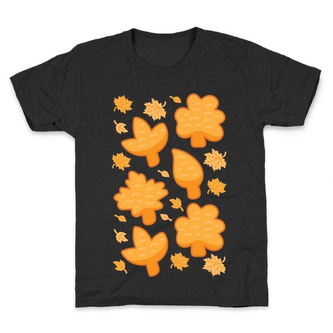 Fall Leaves Chicken Nugget Shapes Kids T-Shirt