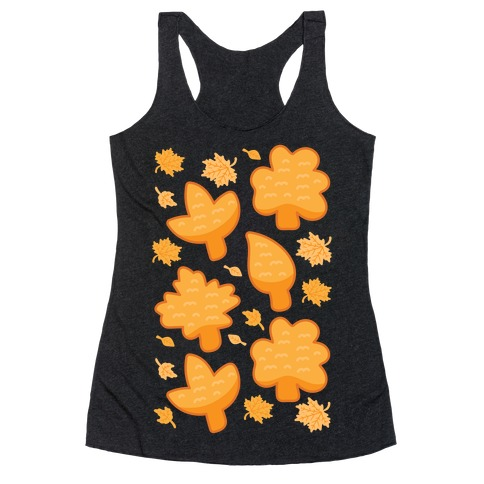 Fall Leaves Chicken Nugget Shapes Racerback Tank Top