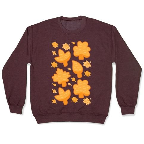 Fall Leaves Chicken Nugget Shapes Pullover