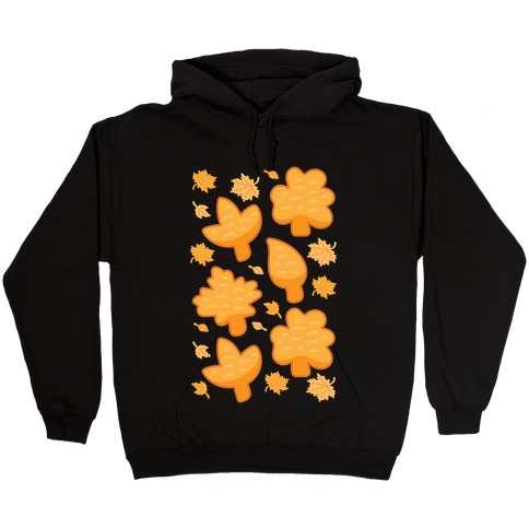 Fall Leaves Chicken Nugget Shapes Hooded Sweatshirt