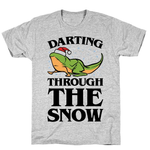Darting Through The Snow Parody Mens T-Shirt