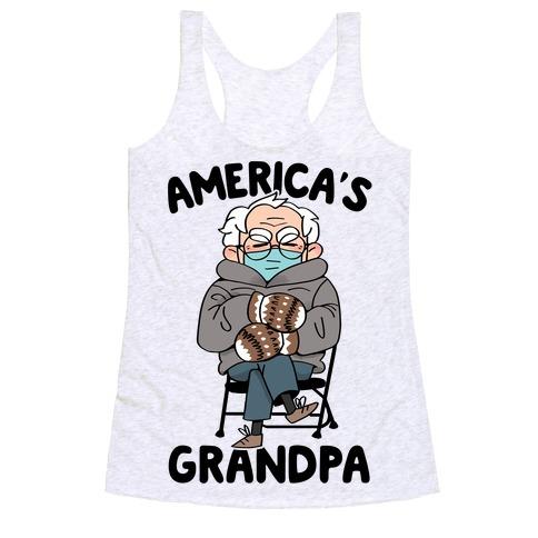 America's Grandpa Racerback Tank Top