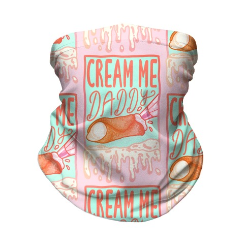 Cream Me Daddy Cannoli Neck Gaiter