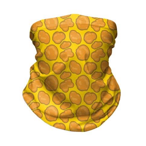 Chicken Nugget Pattern Face Mask Neck Gaiter