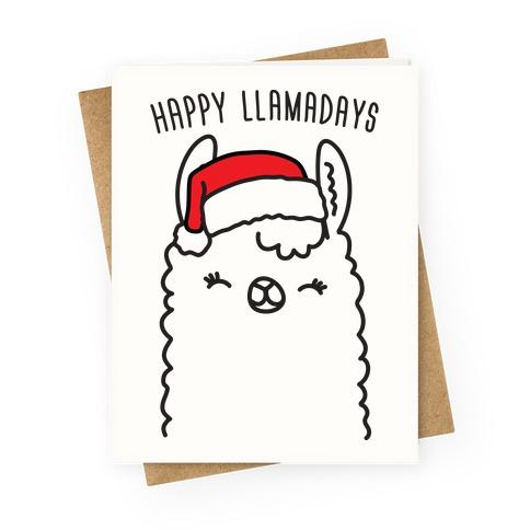 Cute Christmas Stockings with Llama Pun for Christmas