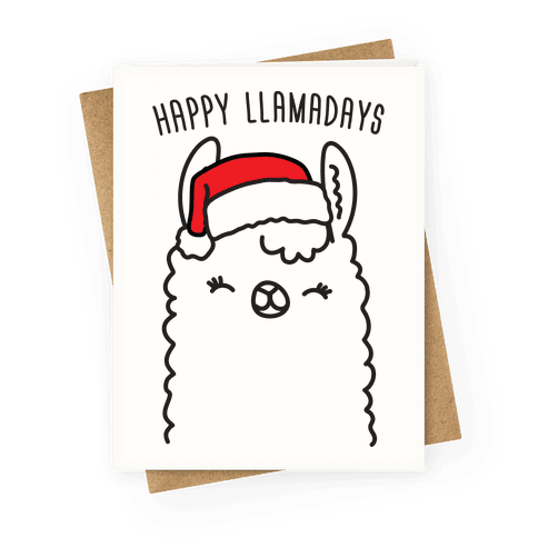 Happy Llamadays Greeting Card