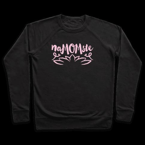 NaMOMste Yoga Mom Parody White Print  Pullover