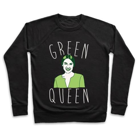 Green Queen AOC White Print Pullover