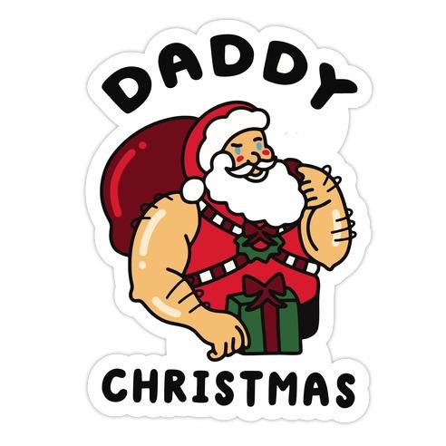 Daddy Christmas Die Cut Sticker