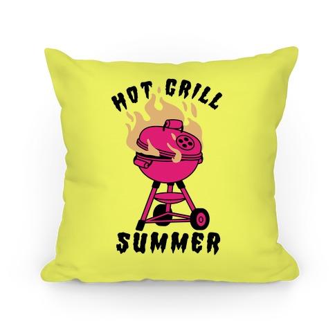 Hot Grill Summer Pillow
